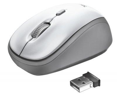Миша Trust Yvi Wireless White (TR23386)