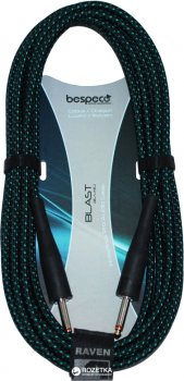 Інструментальний кабель Bespeco RA600 6 м Black/Green (23-2-4-26)