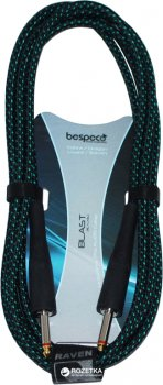 Інструментальний кабель Bespeco RA300 3 м Black/Green (23-2-4-25)