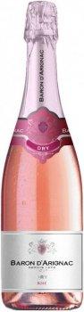 Вино ігристе Baron dArignac Rose Dry Sparkling рожеве брют 0.75 л 12% (3500610108396)