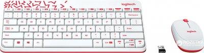Комплект бездротовий Logitech MK240 Nano White RUS (920-008212)