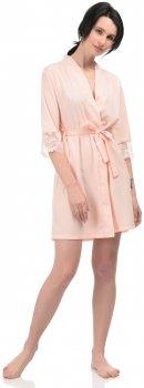 Халат BARWA garments 0246 Персиковый