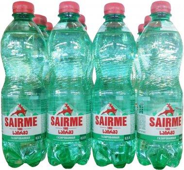 Упаковка минеральной газированной воды Sairme 0.5 л х 12 бутылок (4860001590155)