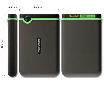 1TB Transcend StoreJet™ 25M3 USB HDD (TS1TSJ25M3)