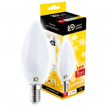 Світлодіодна лампа Light Offer LED C38 7W E14 4000K 650Lm (LЕD - 07 - 221)