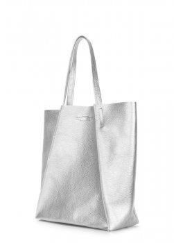 Сумка из натуральной кожи POOLPARTY Edge silver