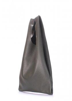 Кожаная сумка POOLPARTY Tote Темно-Зеленая