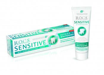 Зубная паста R.O.C.S. Sensitive Восстановление и отбеливание, 94 г (214441)