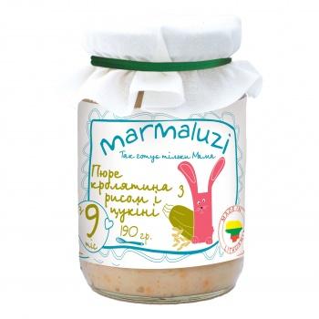 Пюре Marmaluzi Рис з кролятиною і цукіні, 190 г (064541)