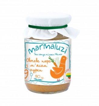 Пюре Marmaluzi із курятини і овочів, 190 г (064544)