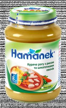 Пюре Hame куряче рагу з рисом і овочами, 190 г (031378)