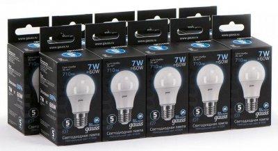 Лампа світлодіодна груша LED A60 Гаусса E27 7W 710lm 4100K