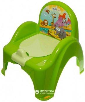 Дитячий горщик-крісло з музикою Tega Baby Safari PO-041 Green (Tega PO-041 green)