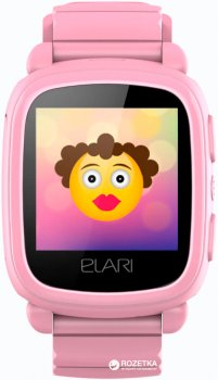 Дитячий телефон-годинник з GPS-трекером Elari KidPhone 2 Pink (KP-2P)