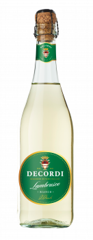 Вино ігристе Decordi Lambrusco Bianco Amabile біле напівсолодке 0.75 л 8% (8008820148843_8008820163365)
