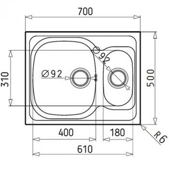 Кухонная мойка Galati Fifika 1.5C Textura (4017)
