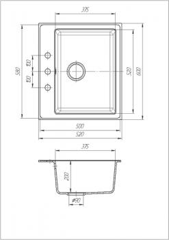 Кухонная мойка Galati Patrat Avena 501 (10488)