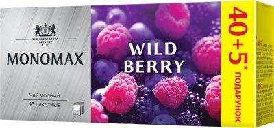 Упаковка цейлонського чорного чаю Мономах Лісові ягоди 2 пачки по 45 пакетиків (2000006781512)