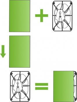 Вентиляционная решетка AIRROXY 150x150 dRim 100/125 02-300