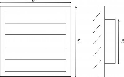 Вентиляционная решетка AIRROXY 170х170 150 мм (KzZ) 02-301 White