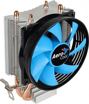 Кулер процессорный Aerocool Verkho 2, Intel:1156/1155/1151/1150/775, AMD:AM4/AM3+/AM3/AM2+/AM2/FM2/FM1, 142 х 92 х 62 мм, 4-pin