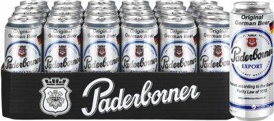 Упаковка пива Paderborner Export светлое фильтрованное 5.5% 0.5 л 24 банки (4101120004711)