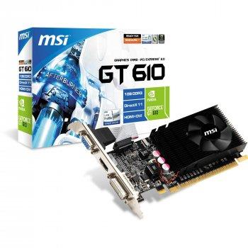 Відеокарта MSI PCI-Ex GeForce GT 610, 1024 mb DDR3 (64 Bit) (DVI, VGA, HDMI) Б/У