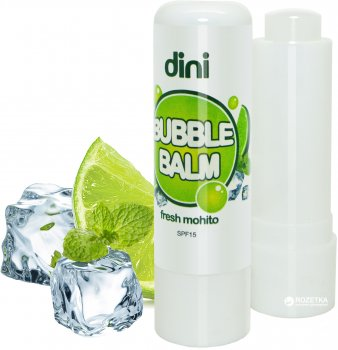 Гигиеническая помада Dini Bubble Balm Свежий мохито 4.5 г (4823083003470)