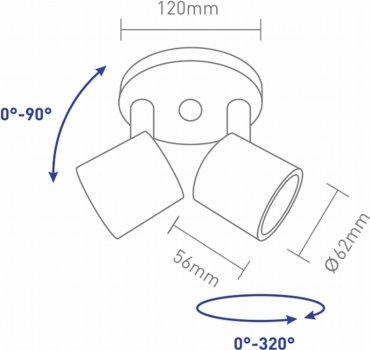 Світильник спотовий GLOBAL GSL-02C 8 Вт 4100 K чорний (2-GSL-20841-CB)