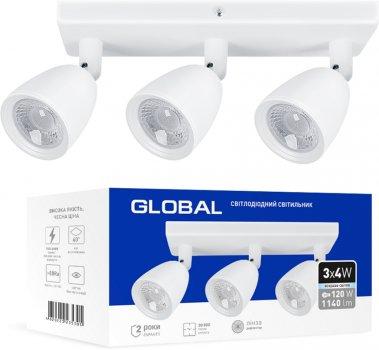 Світильник спотовий GLOBAL GSL-01S 12 Вт 4100 K білий (3-GSL-11241-SW)