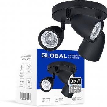Світильник спотовий GLOBAL GSL-01C 12 Вт 4100 K чорний (3-GSL-11241-CB)