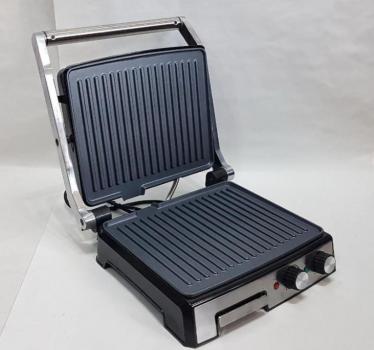 Гриль електричний DSP KB1036 Електрогриль 2000Вт контактний + таймер + піддон + регулювання температури + индикатр + антипригарне покриття для будинку