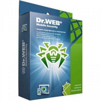 Антивірус Dr. Web Mobile Security + Компл. захист 1 моб прис. 1 рік ел. ліц. (LHM-AA-12M-1-A3)