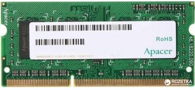 Оперативна пам'ять Apacer SODIMM DDR3-1600 2048MB PC3-12800 (DS.02G2K.HAM)