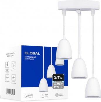 Люстра GLOBAL GPL-01C 21 Вт 4100 K білий (3-GPL-12141-CW)