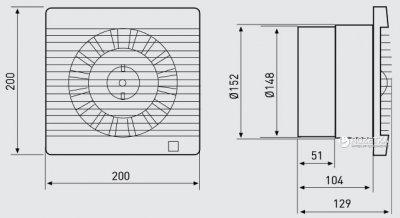 Вытяжной вентилятор SOLER&PALAU DECOR-300 C