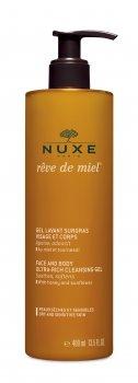 Універсальний очисний гель для обличчя і тіла Nuxe Ultra-Rich Cleansing Gel Медова мрія 400 мл (3264680004063)