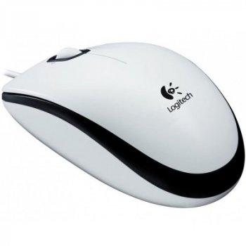 Миша дротова Logitech M100 USB white (910-005004)