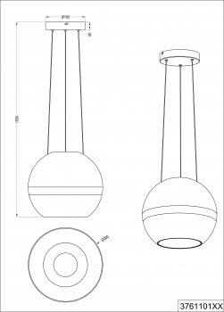Люстра Trio Balloon (376110106)