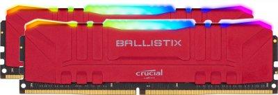 Оперативна пам'ять Crucial DDR4-3200 16384MB PC4-25600 (Kit of 2x8192) Ballistix RGB Red (BL2K8G32C16U4RL)