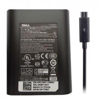 Блок живлення до ноутбука Dell 30W 20V, 1.5 A + 12V, 2A + 5V, 2A, роз'єм USB Type C, Oval-ко (DA30NM150)