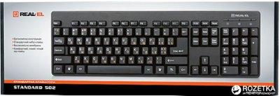 Клавиатура проводная Real-El Standard 502 USB (EL123100023)