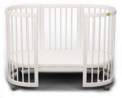 Кроватка трансформер IngVart 9-в-1 овал Белый (1609003)