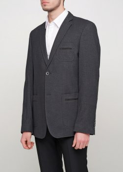 Чоловічий піджак Mia-Style MIA-287/01 чорний