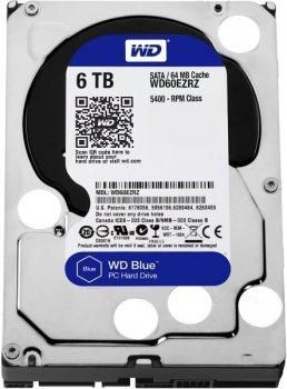 """Жорстку диск HDD 6TB Western Digital Blue 3.5"""", SATA 3, 64MB, 5400rpm (WD60EZRZ)"""