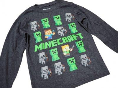 Реглан Таблица мобов Minecraft серый