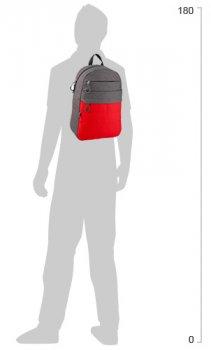 Рюкзак для міста GoPack Сity унісекс 350 г 44.5 х 29.5 х 14.5 см 20 л Сіро-червоний (GO20-118L-1)