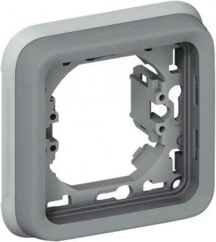 Рамка-суппорт 1-клавишная Legrand Plexo Серый (69681)