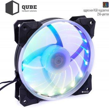 Вентилятор QUBE RGB Rainbow Chamelion 256C 120 мм 18 LED (QB-CHAMELION-120-18)
