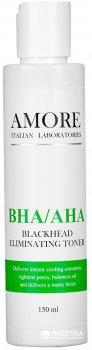 Тоник для лица Amore BHA/AHA Blackhead eliminating toner с кислотами против черных точек и акне 150 мл (4865498732101)